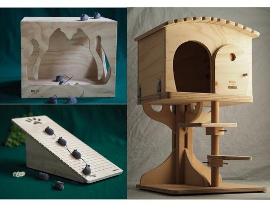 Katzenmoebel aus Holz