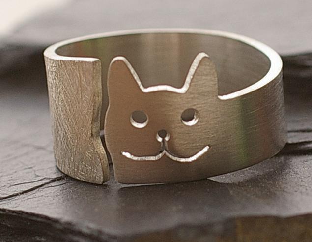 Silberring Katze