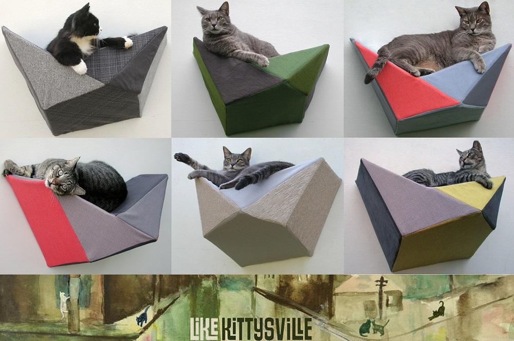 geometrische Katzenbetten Katzenblog