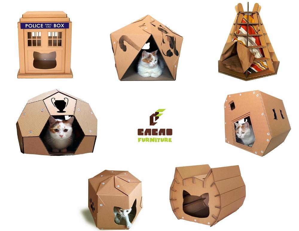 cacao furniture design katzenh user aus pappkarton. Black Bedroom Furniture Sets. Home Design Ideas