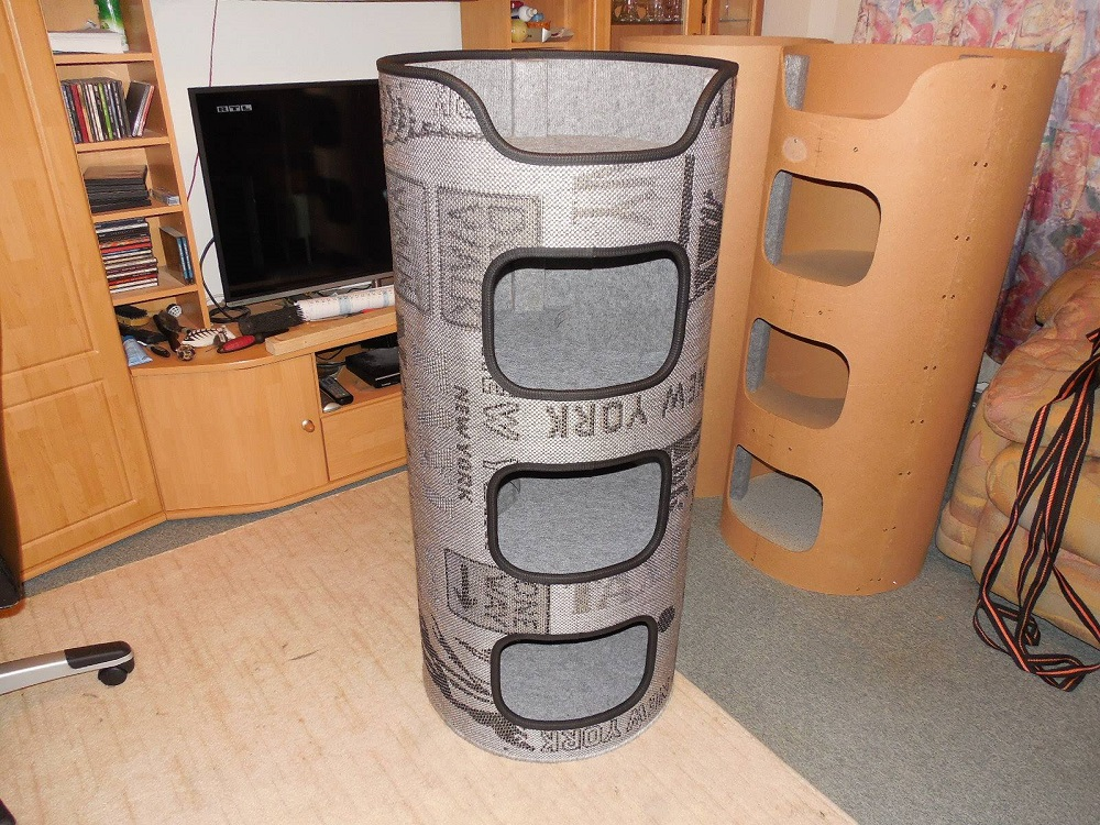 kratztonne f r katzen selber bauen anleitung interessantes f r katzenfreunde. Black Bedroom Furniture Sets. Home Design Ideas