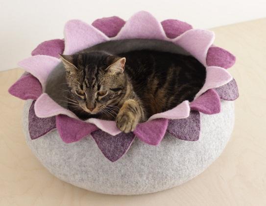Katzenbett aus Filz