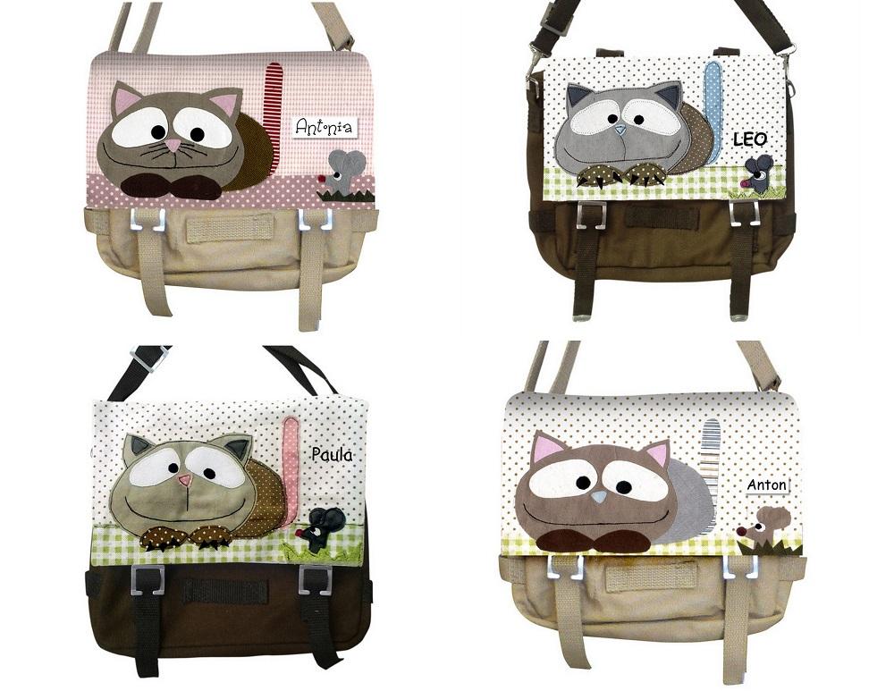 Kindergartentasche mit Katze