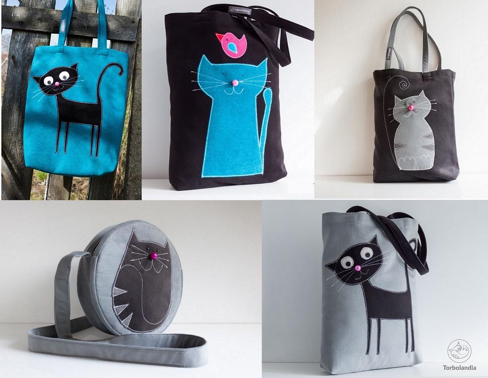 Taschen Handtaschen Katzenmotiv