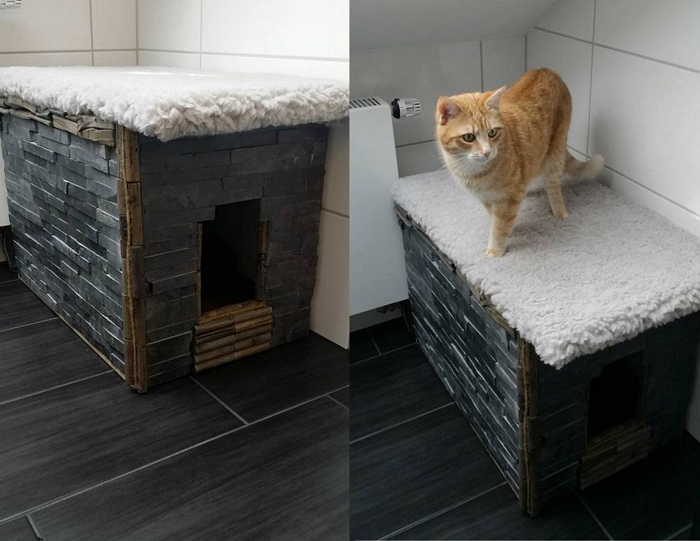 Katzentoilettenversteck Schiefer
