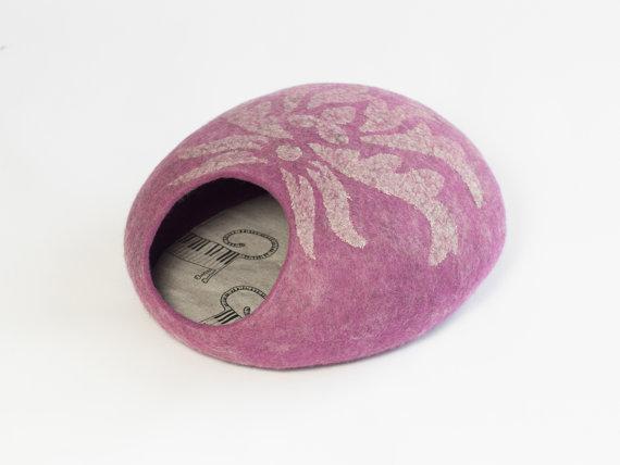 Katzenfilzhoehle rosa