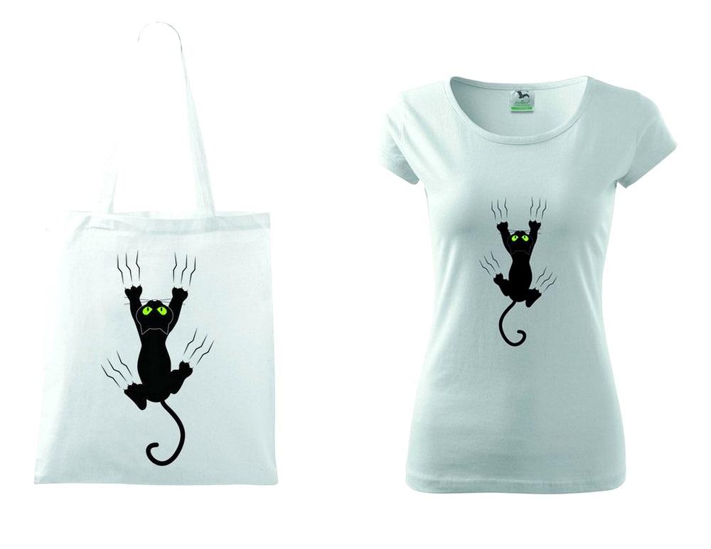Shirt Tasche mit Katze