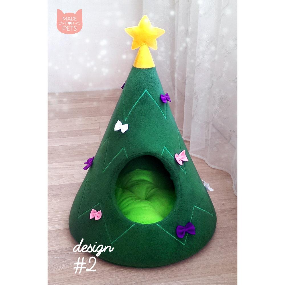 weihnachtliches Katzenbett