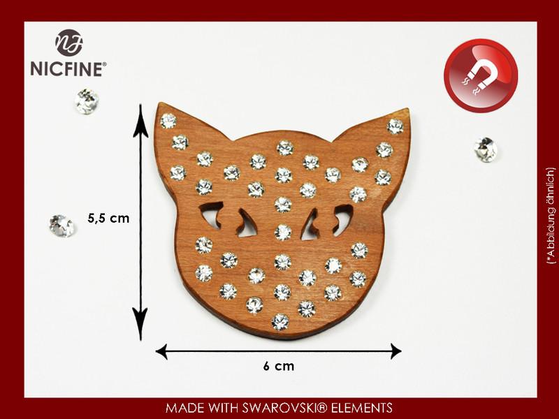 Katzenmagnet Swarovski Katzenkopf