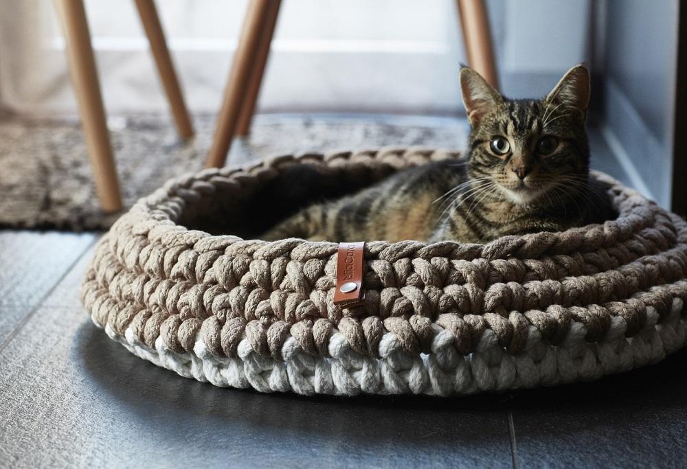 Katzenhaekelkoerbchen