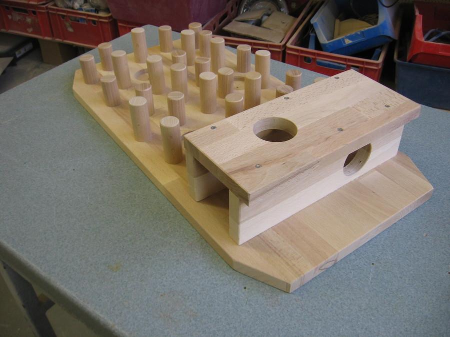 Fummelbrett Katzen Holz