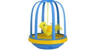 Katzenspielzeug Bird in a cage Vogelzwitschern