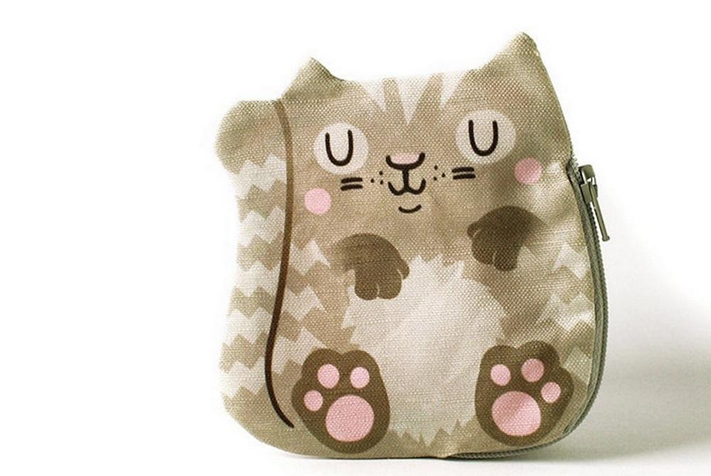 Portemonnaie mit Katze