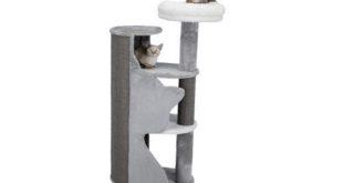 Kratzbaum grau Katzensilhouette