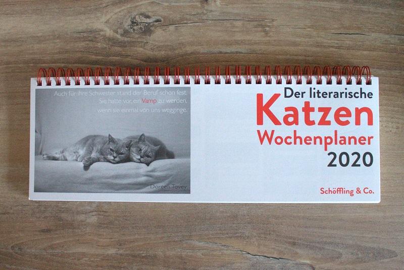 Literarischer Katzen Wochenplaner 2020