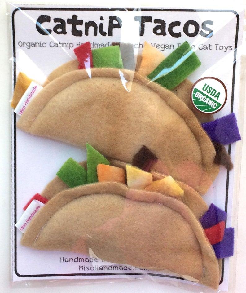 Katzenspielzeug Catnip Tacos